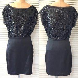 🆕 Max & Cleo Dress Black Size 2 Sequin Party New